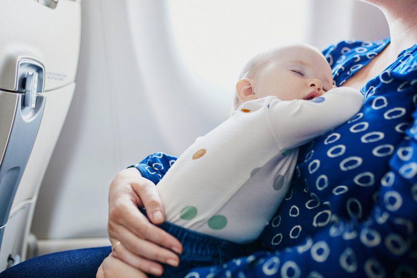 fliegen mit einem baby