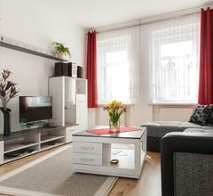 """Ferienwohnung """"Helianthus"""" (Arnstadt). FW mit 1 Wohnr., 1 Schlafr., Küche, Bad m. DU, EG, 1-3 P., 55 m² 1"""