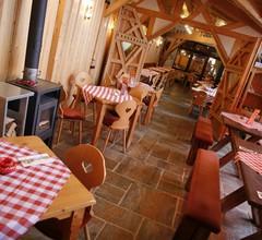 Südtiroler Stubn Café und Restaurant (Arnstadt). FeWo3 m. 1 Schlafr., 1 Wohnr. Küche, Du,WC, 40m², 3 P 1